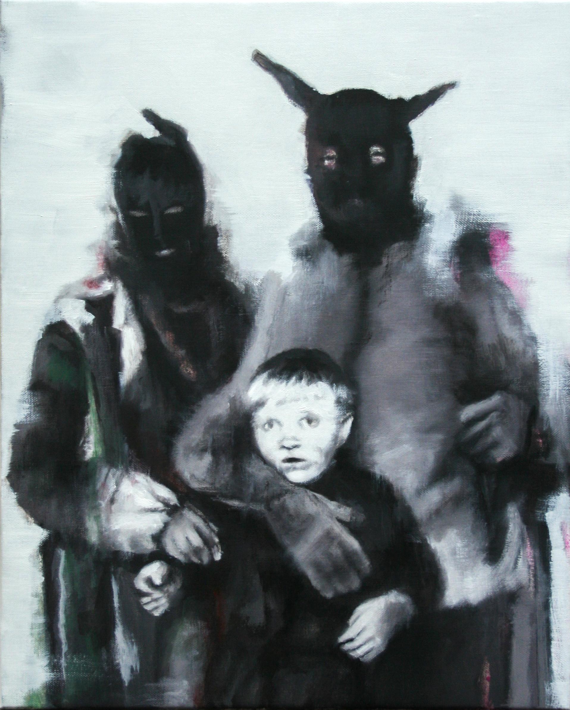 Nuclear Family · óleo/tela